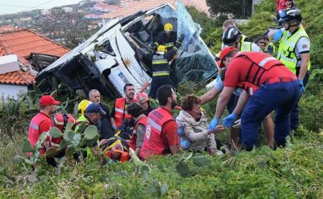 Autocar răsturnat în Madeira: cel puţin 29 de morți