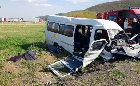 Accident cu 11 victime în Cluj, dintre care 9 sunt elevi. Planul Roșu, activat