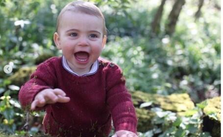Prinţul Louis, fiul cel mic al ducilor de Cambridge, a împlinit vârsta de 1 an