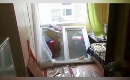 Explozie puternică într-o garsonieră din Balş. Trei oameni au ajuns la spital