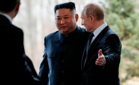 Gestul făcut de Vladimir Putin la întâlnirea istorică cu Kim Jong-un. VIDEO - 3