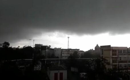 Furtună cu grindină la Timișoara