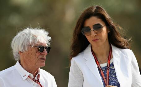 Bernie Ecclestone și soția sa, Fabiana Flosi