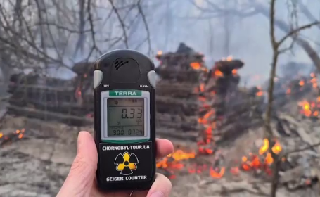 Alertă în Ucraina. Incendiu de vegetaţie, în Zona de Excludere de la Cernobîl