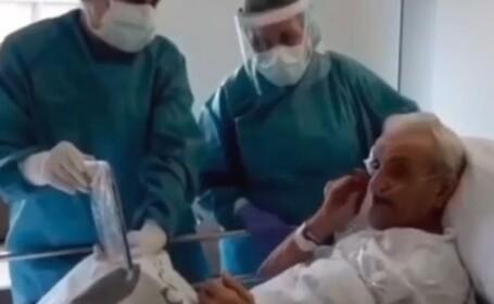 batran la spital din spania