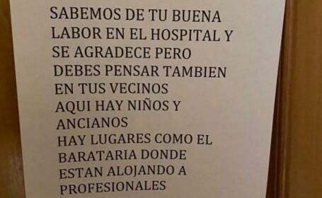 bilet primit de un doctor din spania