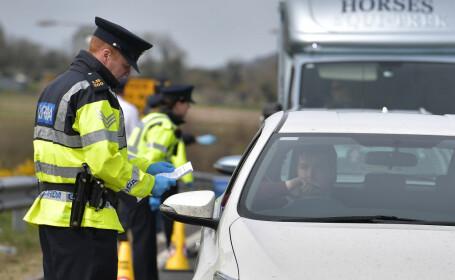 Prima persoană acuzată în Irlanda de încălcarea restricţiilor este un român. Conducea şi fără permis