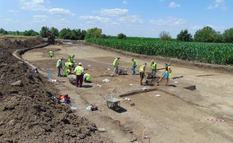 Descoperiri de senzație pe șantierul Centurii de Sud a Timișoarei. Ce au găsit arheologii