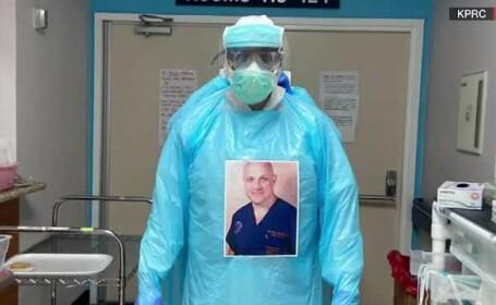 Pentru binele pacienților, mai mulți medici i-au pus poza pe echipamentul de protecție