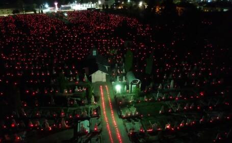 18.000 de candele, aprinse în cimitirele din Râmnicu Vâlcea în noaptea de Înviere - 4