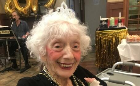 O femeie în vârstă de 101 de ani a supravieţuit gripei spaniole, cancerului şi COVID-19