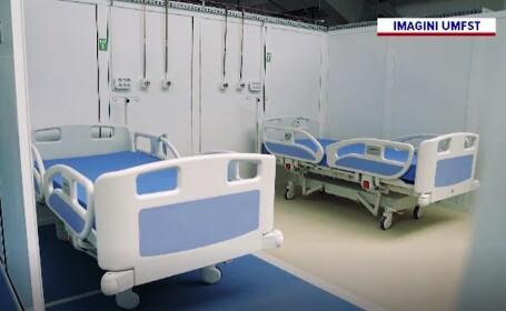 Cum a fost transformată o sala de sport în secție pentru tratarea bolnavilor de COVID-19