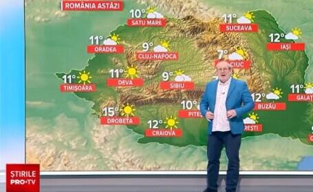 Vremea azi, 10 aprilie. Temperaturile cresc, dar tot e mai frig ca de obicei în această perioadă