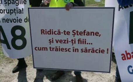 Protest cu sute de maşini pe drumurile din Moldova, pentru urgentarea construirii de autostrăzi. GALERIE FOTO - 3