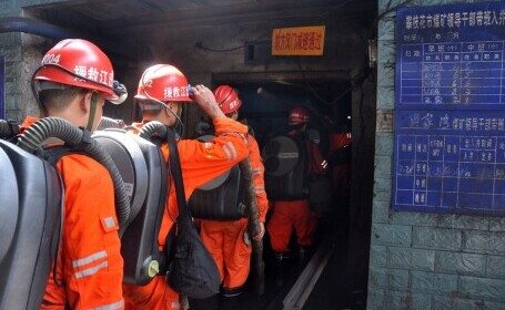 Accident grav în China. 21 de mineri au rămas blocați în subteran