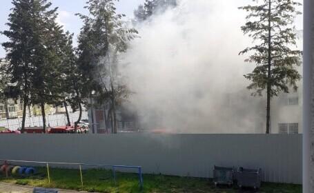 Incendiu la Secția de Psihiatrie a Spitalului Județean Slatina. Șase pacienți s-au intoxicat cu fum