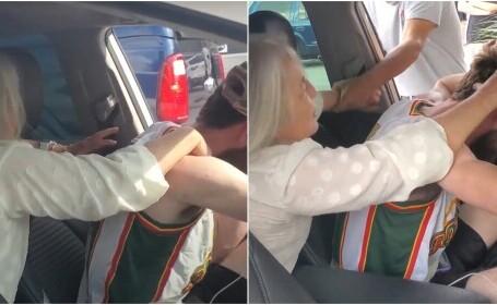 Clipe de coșmar pentru un șofer pe Uber! Pasagerul a început să îl stranguleze și să îl muște în timpul cursei