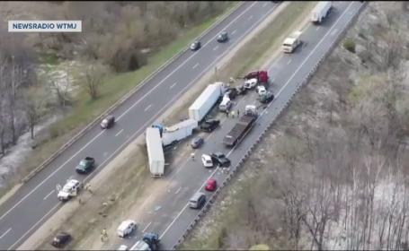 Ninsoarea încă face victime în SUA. Accidente în lanţ pe o autostradă din Wisconsin