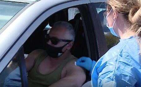 Câți oameni s-au vaccinat în primele ore de funcționare ale centrului drive-through din București