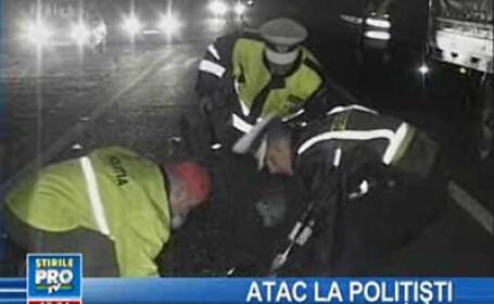 Noapte agitată la Borşa! Maşină de poliţie, urmărită şi tamponată