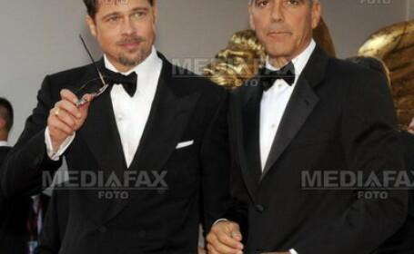 Brad Pitt si George Clooney, vedetele festivalului de film din Venetia