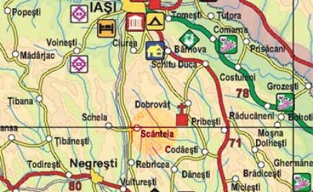 harta localitatea Scanteia
