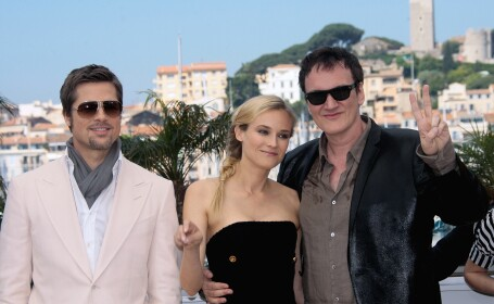 Quentin Tarantino, Brad Pitt, Diane Kruger,