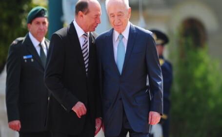 Shimon Peres si Traian Basescu