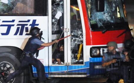Sapte ostatici au fost ucisi in autocarul sechestrat in Manila