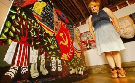O pictorita romanca a vernisat la LA o expozitie inspirata din comunism