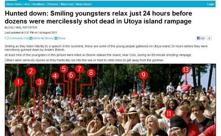 Ultima imagine cu ei in viata. La nici 24 de ore erau ucisi de Breivik