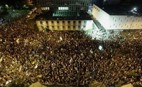 Israelul a iesit in strada. Un sfert de MILION de oameni vor o viata mai buna si preturi mai mici