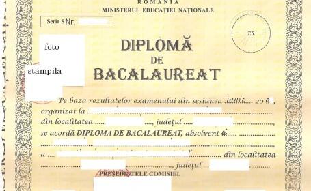 CAMERA ASCUNSA: Cum arata o diploma falsa de Bacalaureat. Pret 1.200 de euro