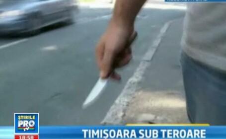 Isterie pe strazile din Timisoara. O a TREIA femeie a fost injunghiata astazi.Patru victime in total