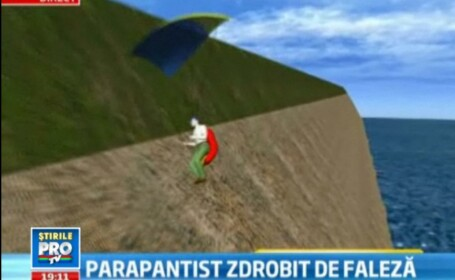 Ultimul zbor. Un parapantist s-a zdobit de peretele falezei din Costinesti