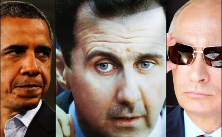 Barack Obama, Bashar al-Assad, Vladimir Putin,