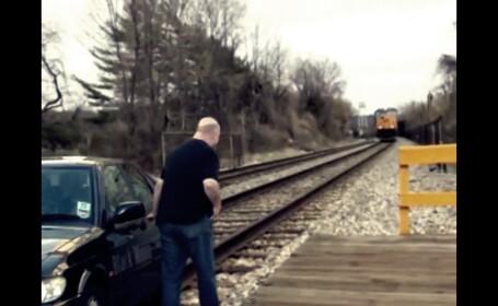 Cum eviti in ultima secunda sa fii calcat de tren. VIDEO de 4 milioane de afisari pe YouTube