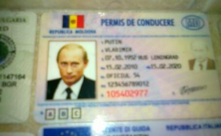 Vladimir Putin are permis de conducere moldovenesc. FOTO