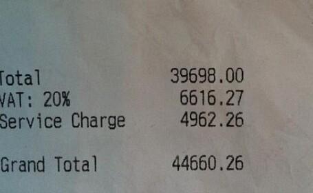 Cea mai scumpa nota de plata de la JO. Pe ce au cheltuit 15 oficiali 45.000 de lire la o masa
