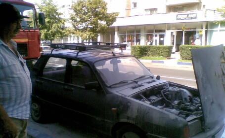 incendiu masina
