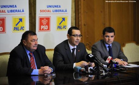 Victor Paul Dobre (S), Victor Ponta (C), Daniel Constantin (D),