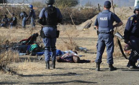 Masacru in Africa de Sud. Politia a deschis focul asupra muncitorilor care erau in greva. VIDEO