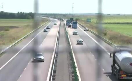 Sofer prins pe Autostrada Soarelui cu 236 de kilometri pe ora