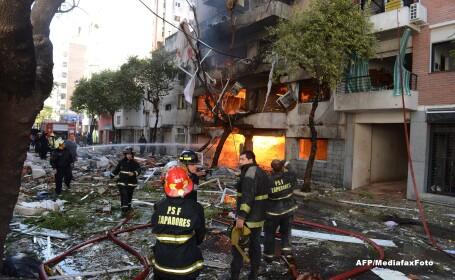 Un bloc din Argentina, distrus de o explozie: 8 persoane au murit, iar alte 19 sunt date disparute