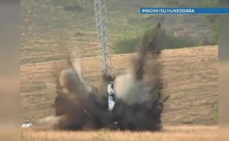 Trei mine antitanc functionale descoperite pe autostrada Deva-Lugoj. Puteau provoca un dezastru