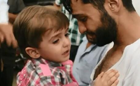 Momentul emotionant in care un sirian isi regaseste fiul pe care il credea mort. VIDEO