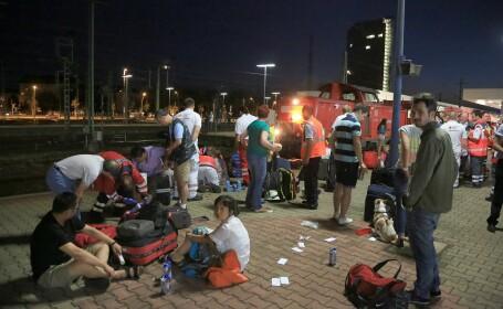 Accident feroviar in Germania. 35 de persoane au ajuns in stare grava la spital dupa ce doua trenuri s-au ciocnit