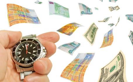 bani, ora, euro, dolari