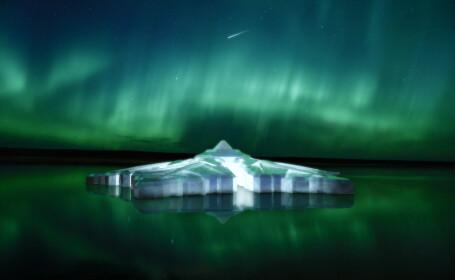 Cel mai frumos hotel din lume. Construit din sticla, pe apa, sub forma unui fulg de nea. Privelistea este unica. Foto