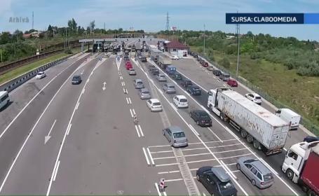 Circulatie intensa pe Autostrada Soarelui. Doua accidente s-au produs de dimineata din cauza cetii
